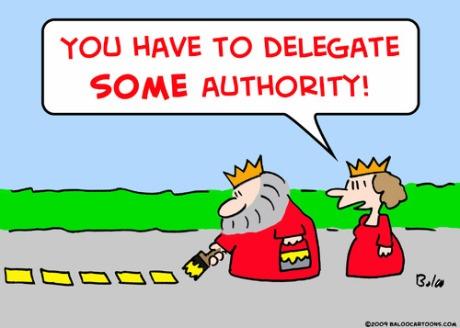 delegating king queen cartoon